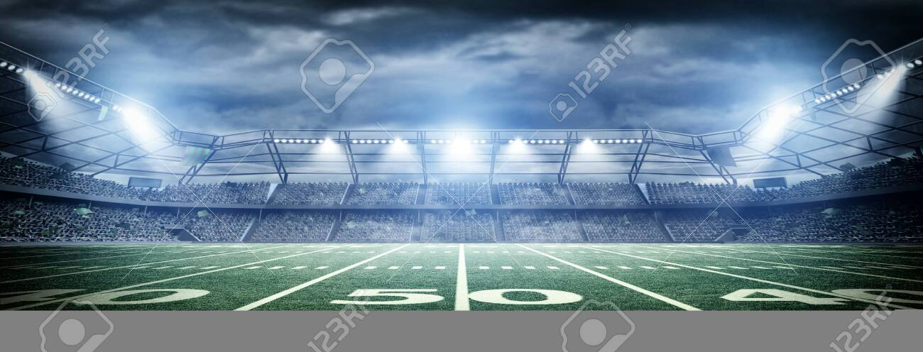 Stadium, an imaginary stadium is modeled and rendered. - 138635825