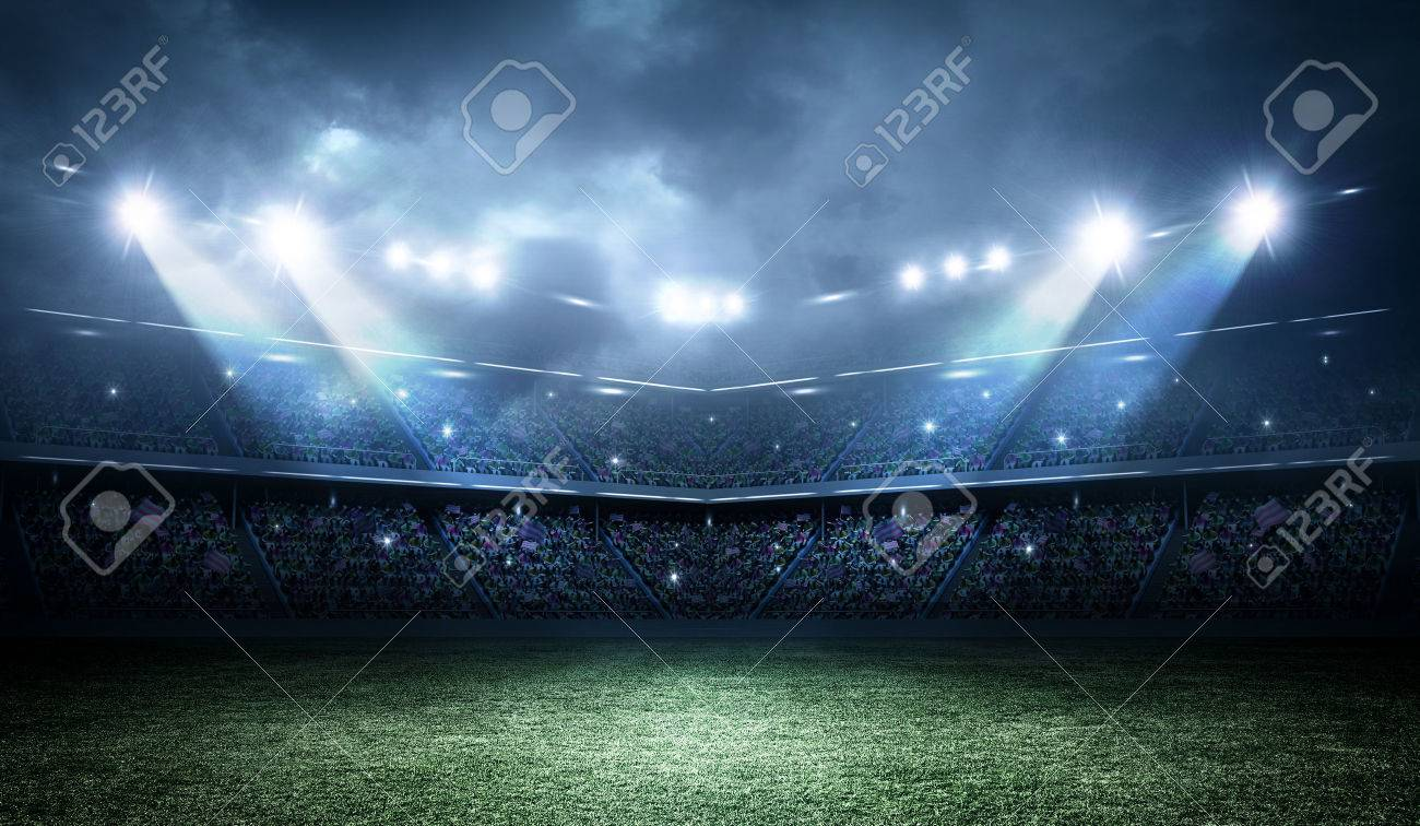 The imaginary stadium is modeled and rendered. - 51755147