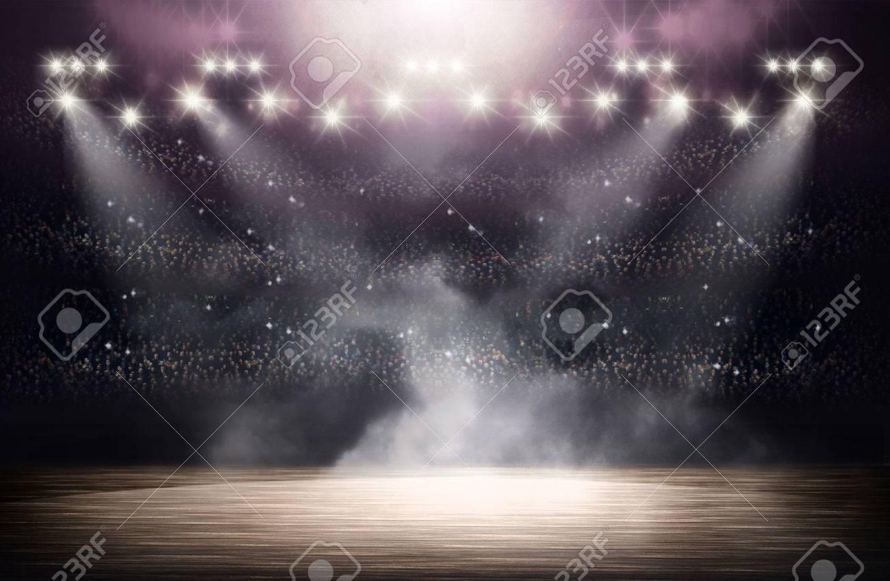 Basketball arena background - 54437366