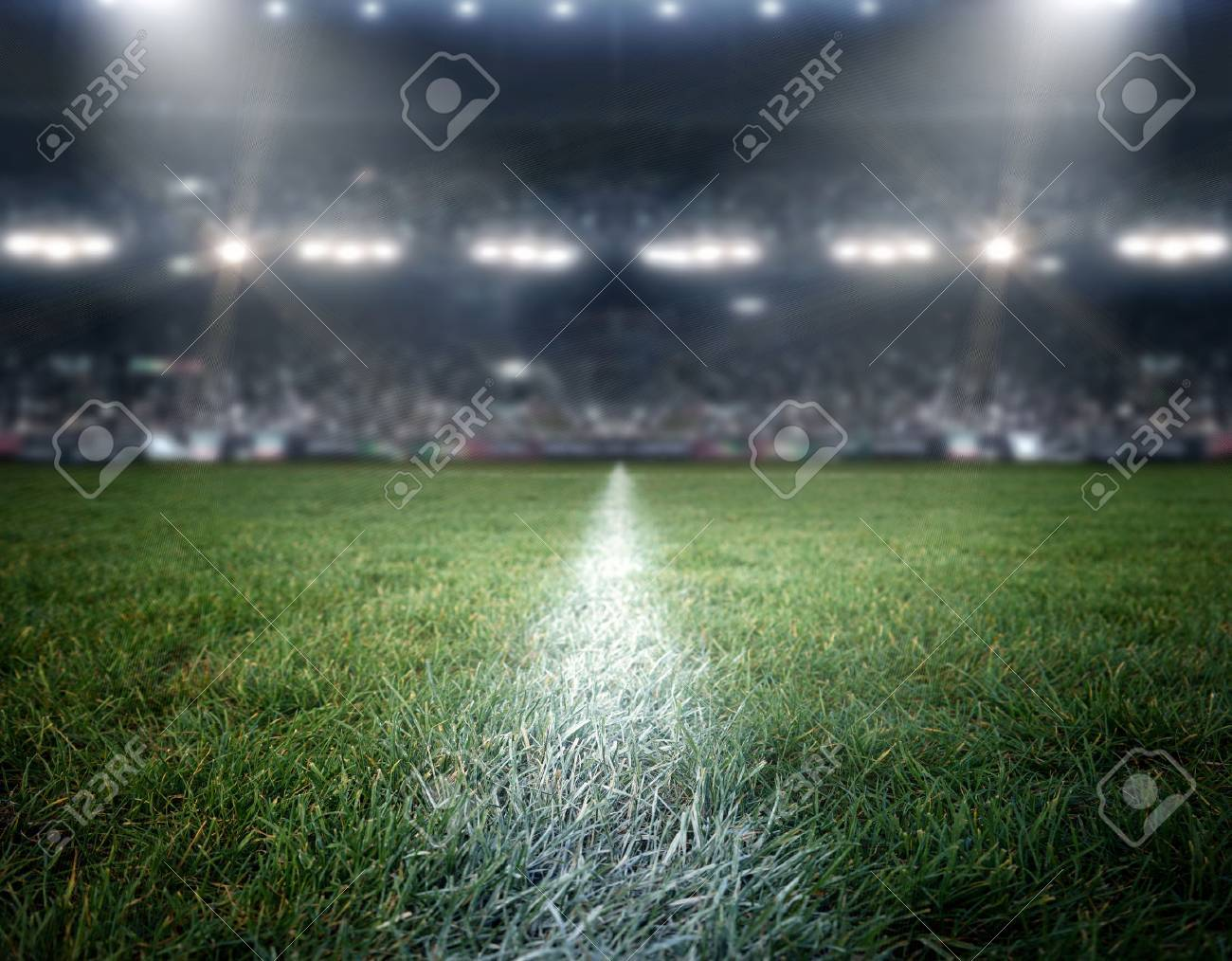 stadium lights, the imaginary stadium is modeled and rendered. - 66776042
