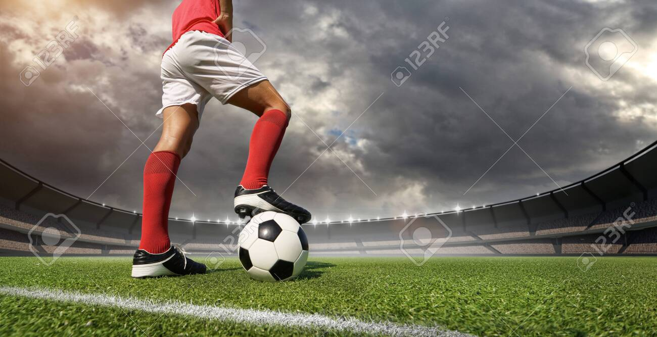 football player in the stadium - 138937958