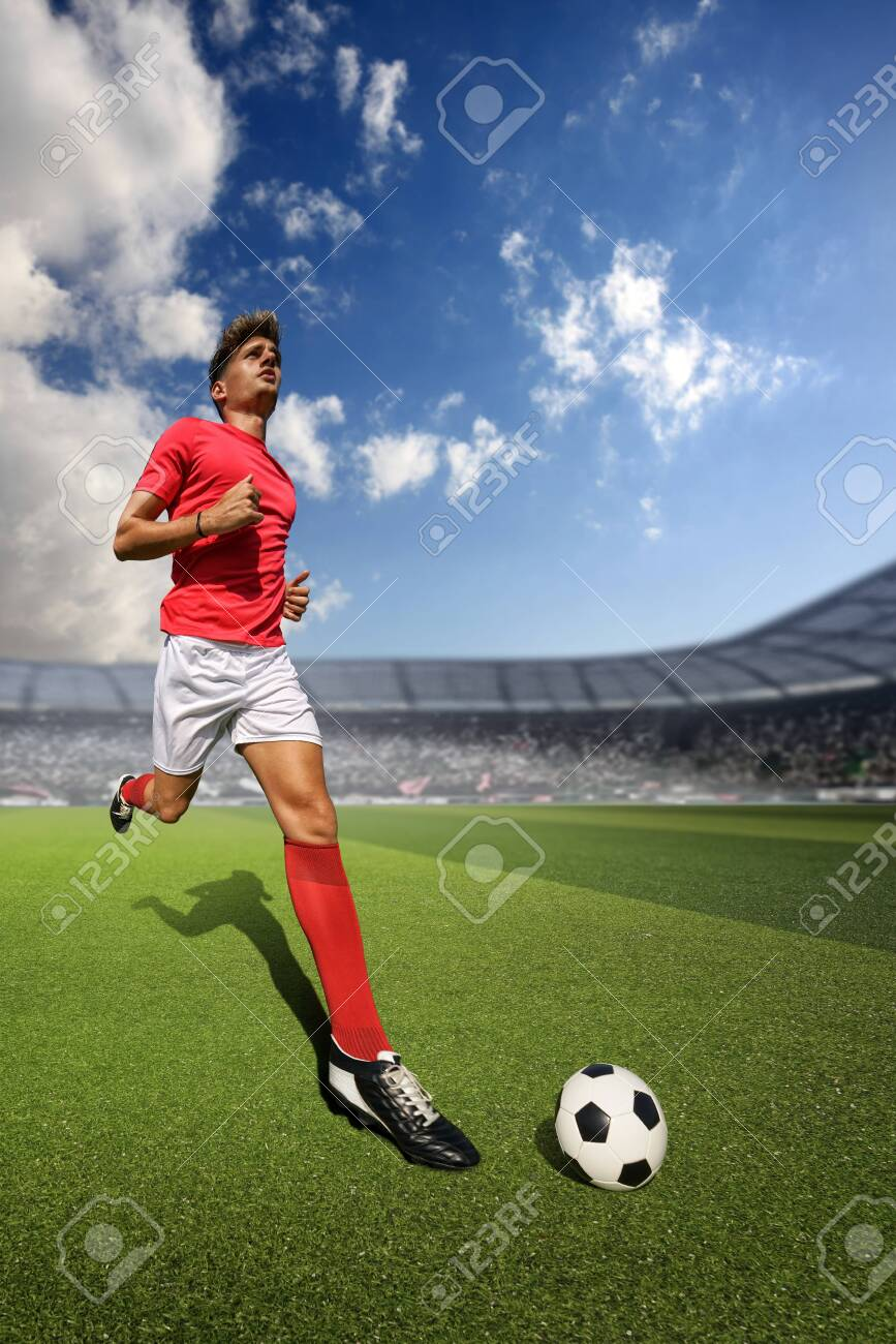 Football player in the stadium - 149466015