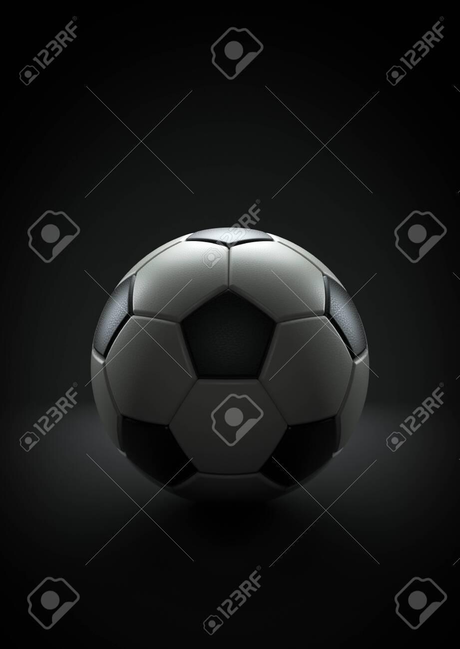 Soccer ball on the black background, 3d render - 149472366