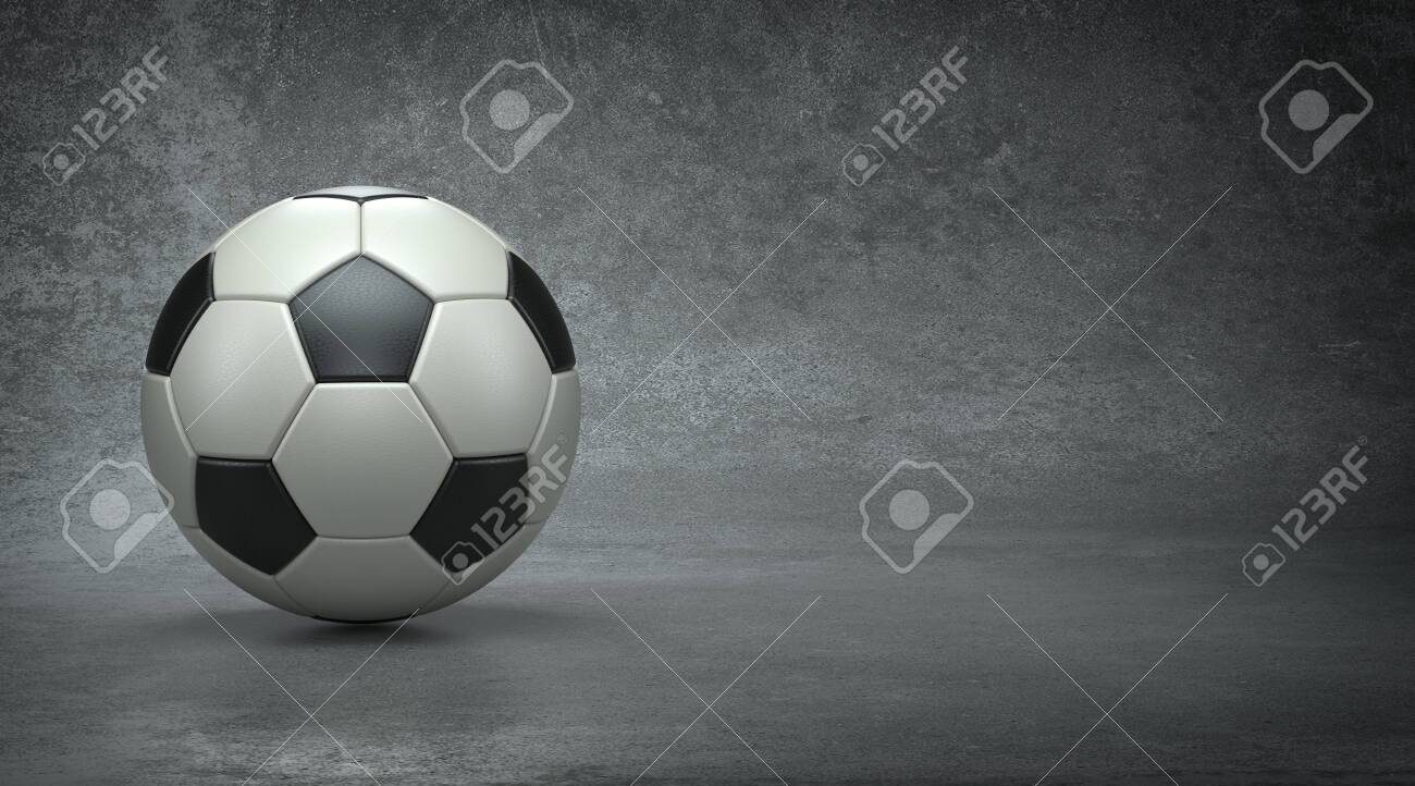 Soccer ball in concrete background, 3d render - 149471073