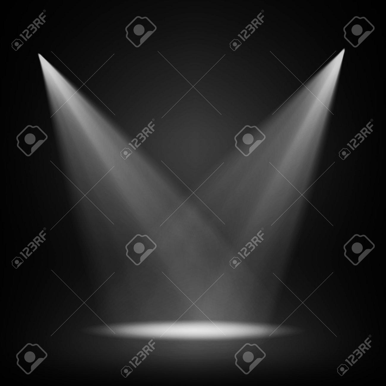 Spotlight on black background - 165659051