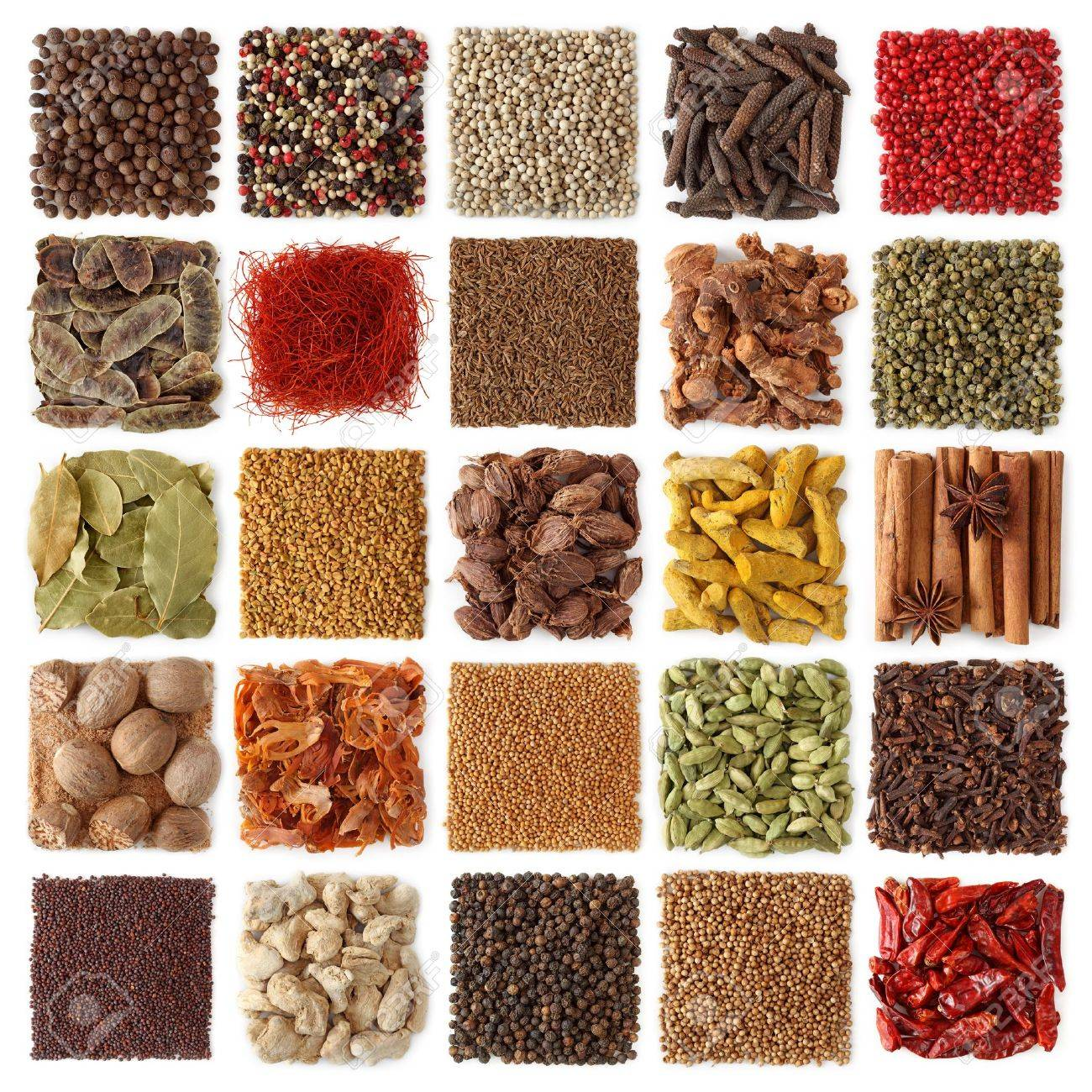 Indian spices collection isolated on white background - 8394661