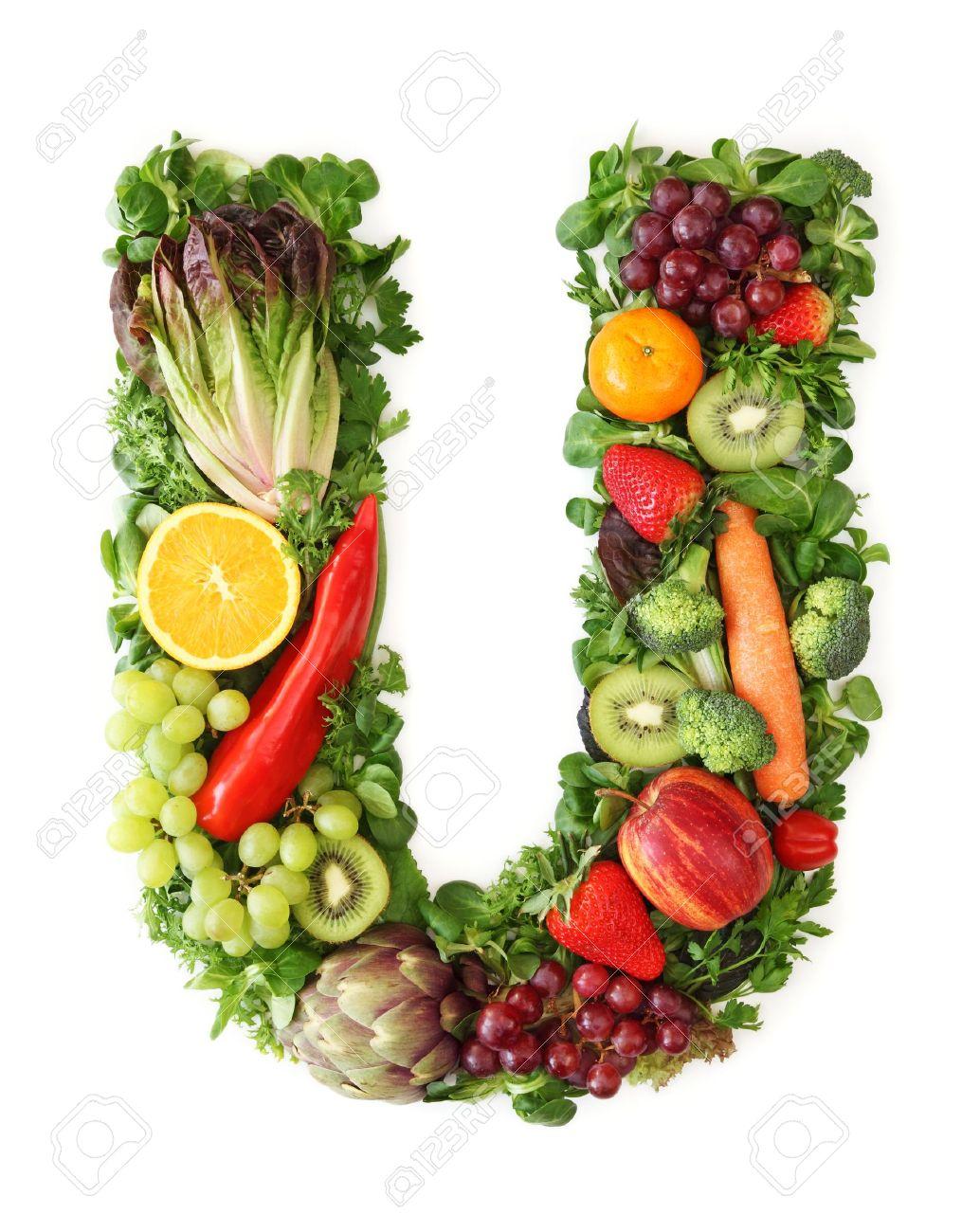 Fabelhaft Obst Und Gemüse Alphabet - Buchstabe U Lizenzfreie Fotos, Bilder @BY_89
