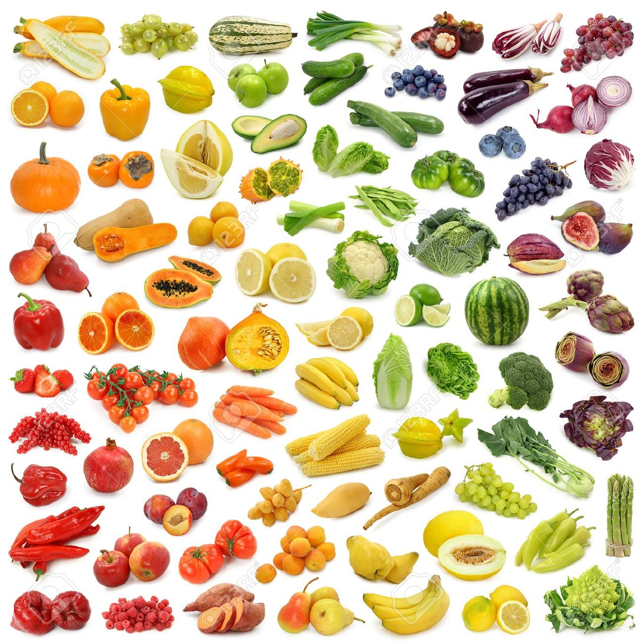 Rainbow collection of fruits and vegetables stock photo picture and rainbow collection of fruits and vegetables stock photo 10313971 altavistaventures Choice Image