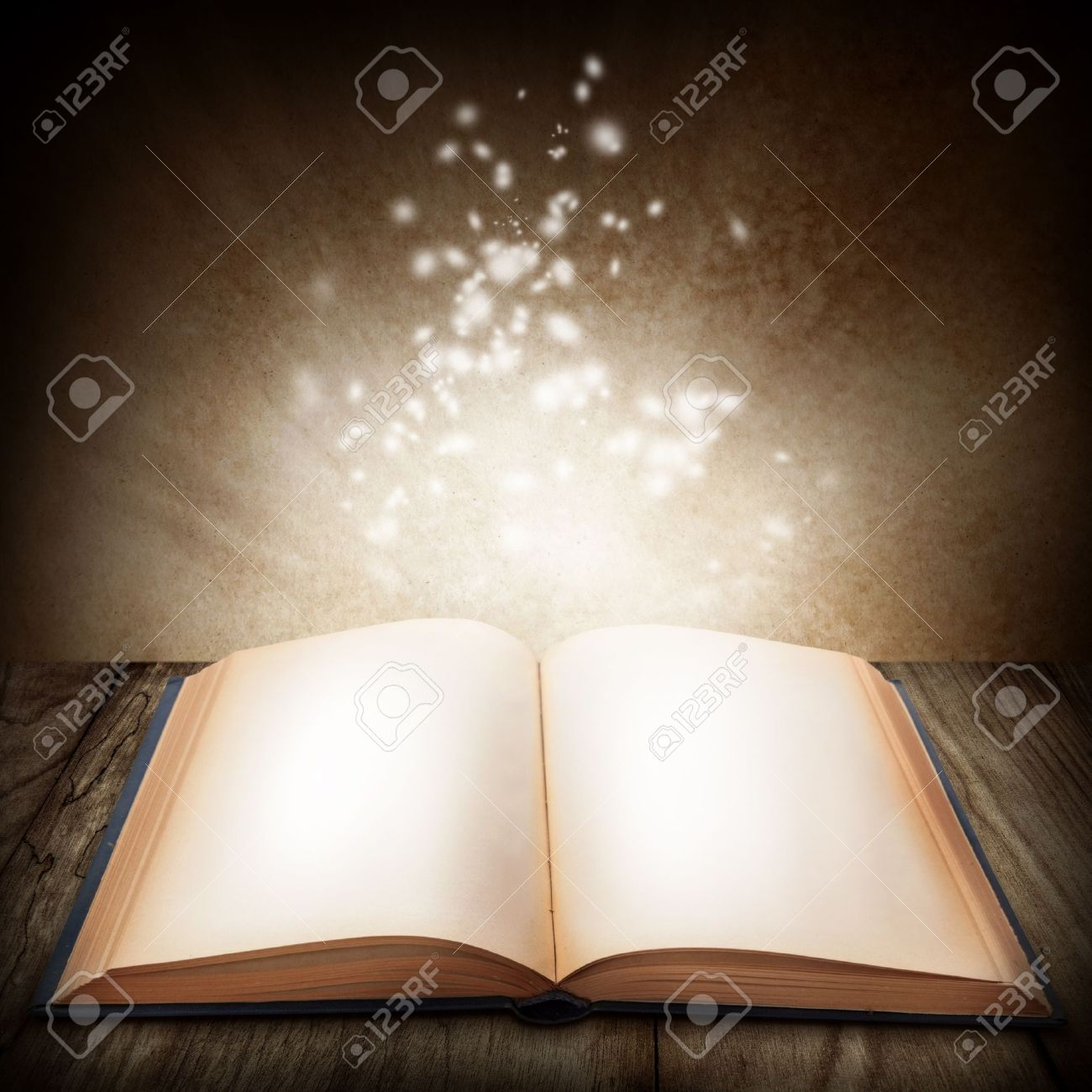 Open magic book Stock Photo - 10648573