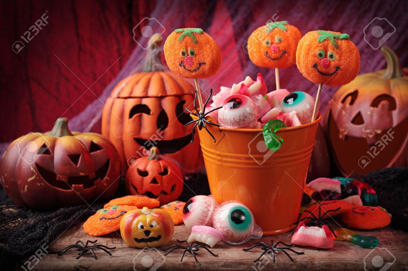 Halloween sweets for Halloween party Stock Photo - 10818257