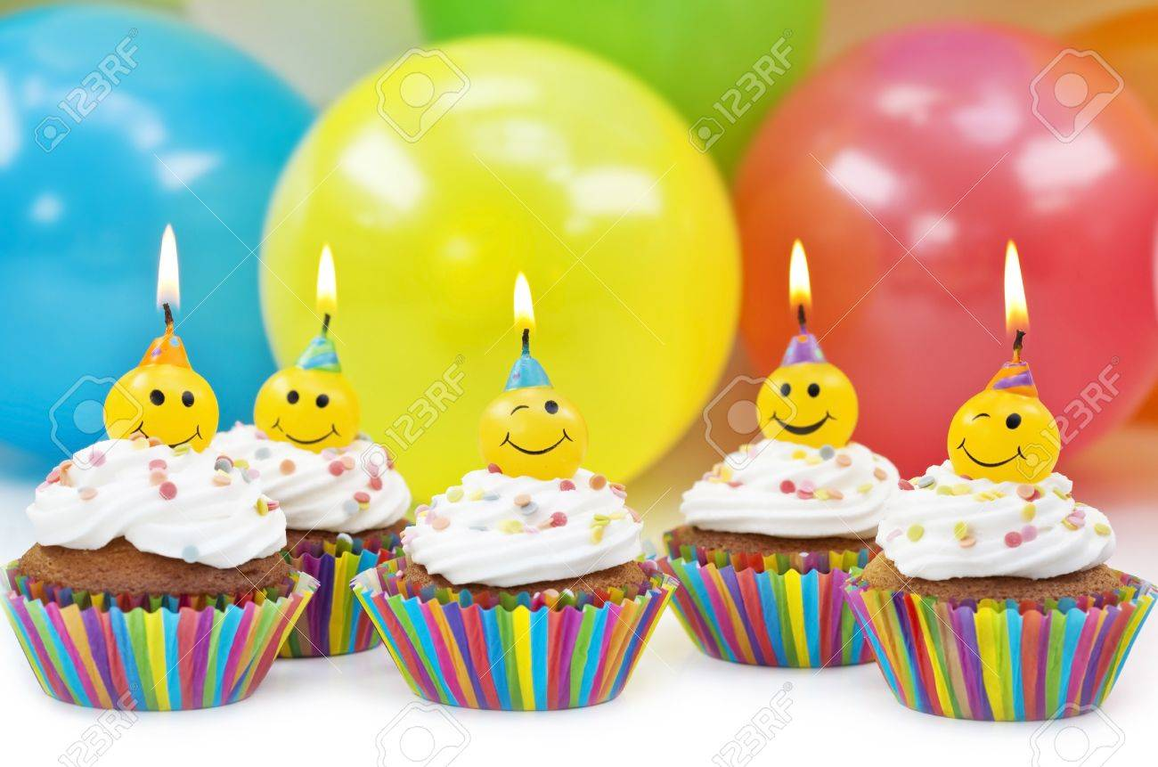 Birthday candles on colorful background Stock Photo - 13984878