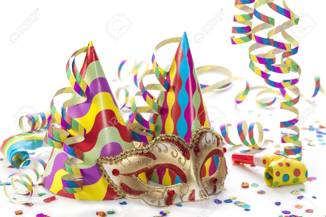 Party decoration isolated on white background - 17109525