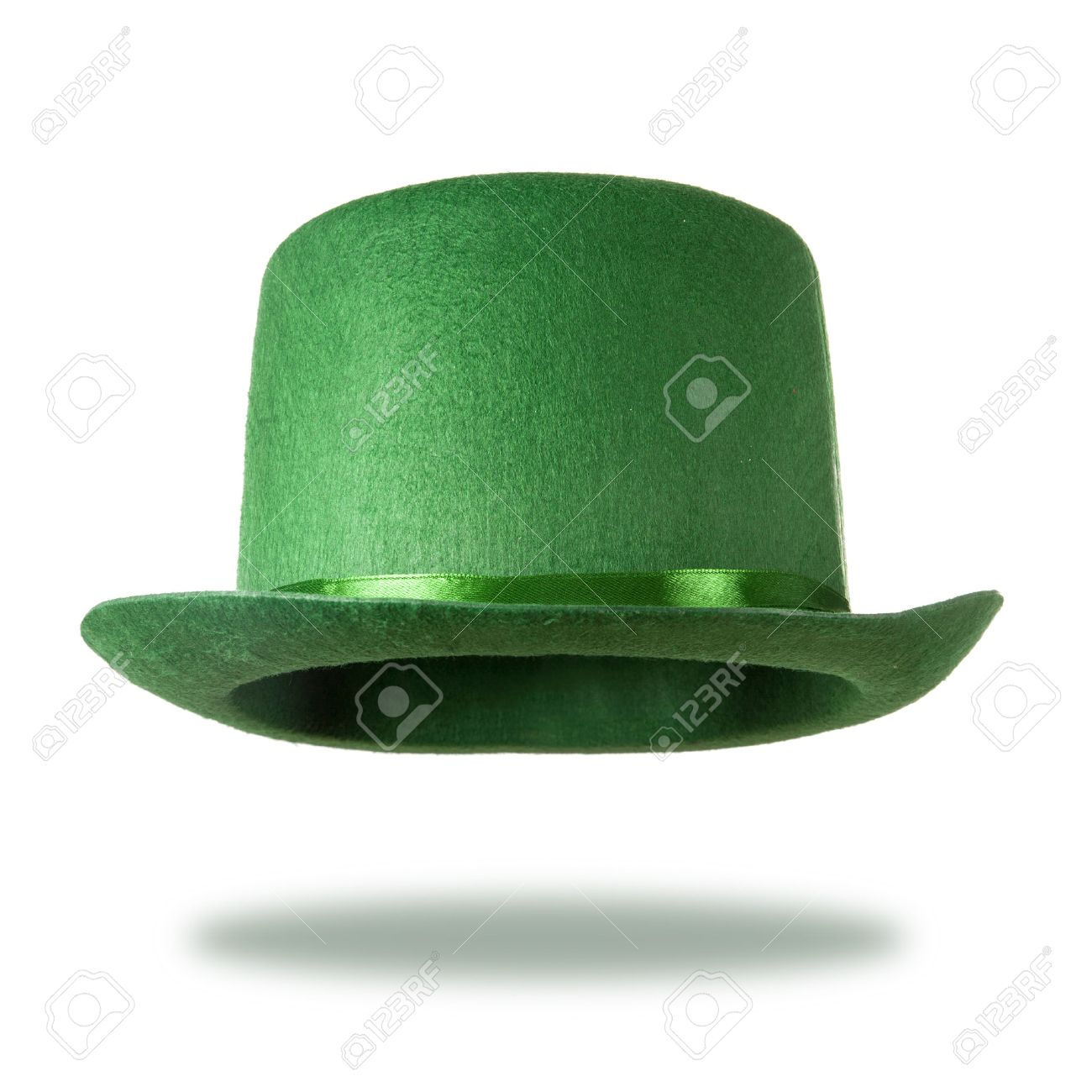 green st patrick u0027s day hat isolated on white background stock