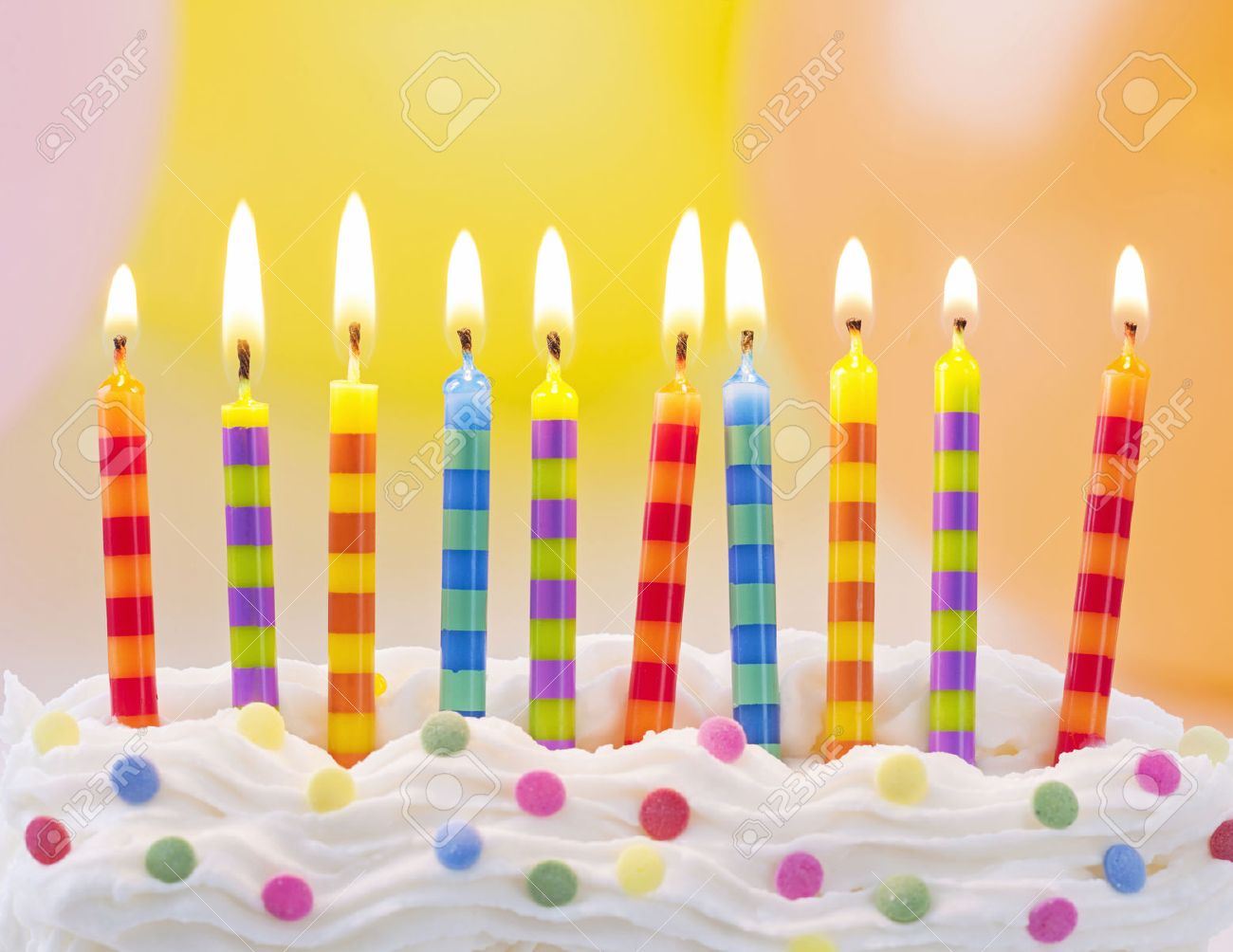 Birthday Candles On Colorful Background Stock Photo Picture And Royalty Free Image Image 27911972