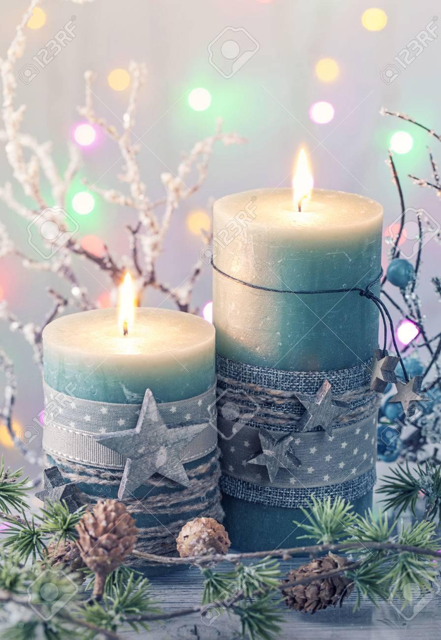 Kerzen Weihnachten.Stock Photo