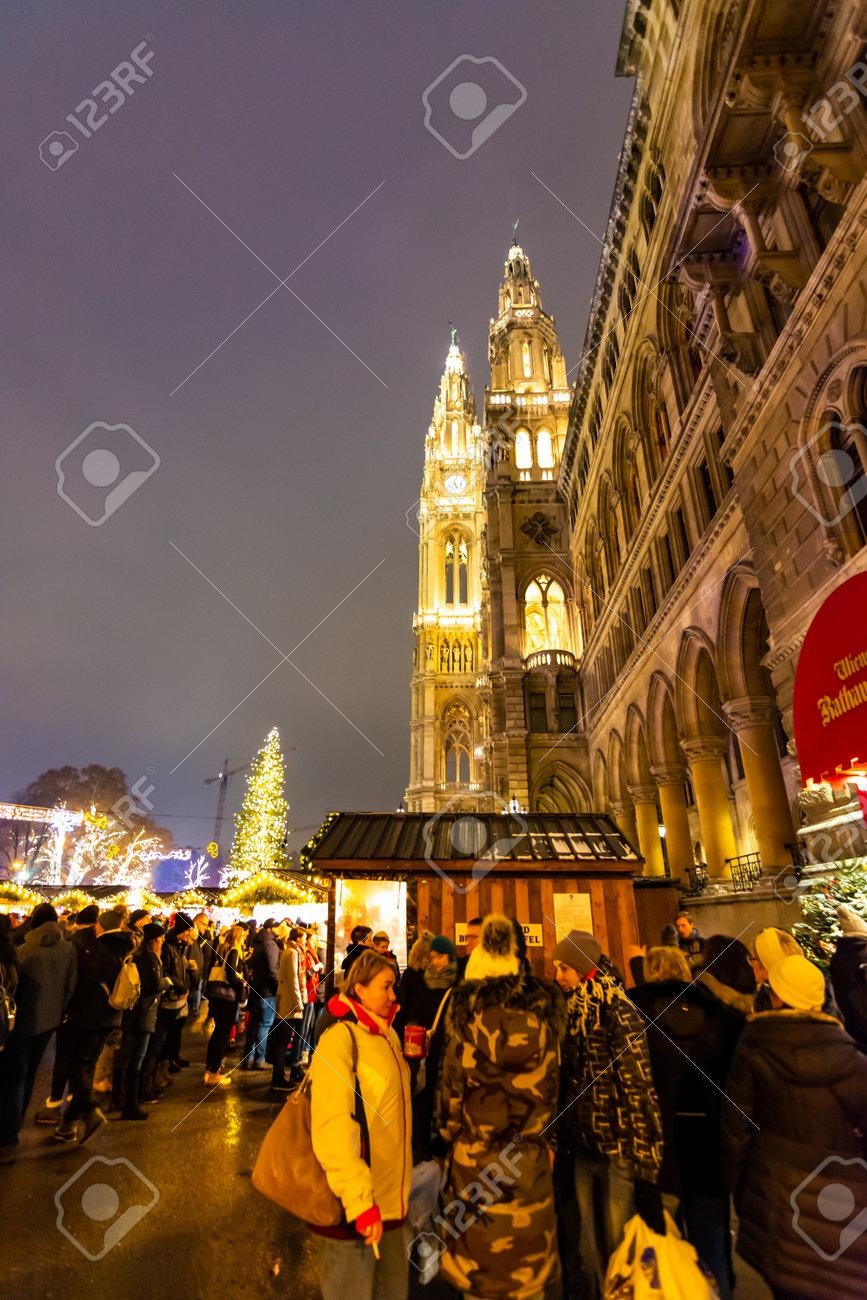 Vienna Austria 1 12 2018 Vienna Christmas Market Austria