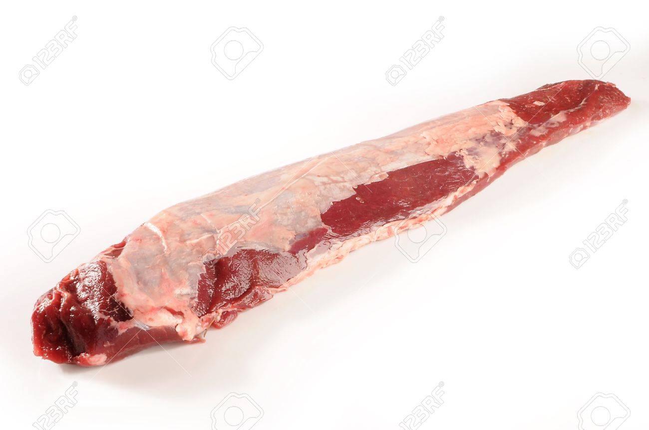 one raw boar sirloin photografed on studio whit white background Stock Photo - 7254056