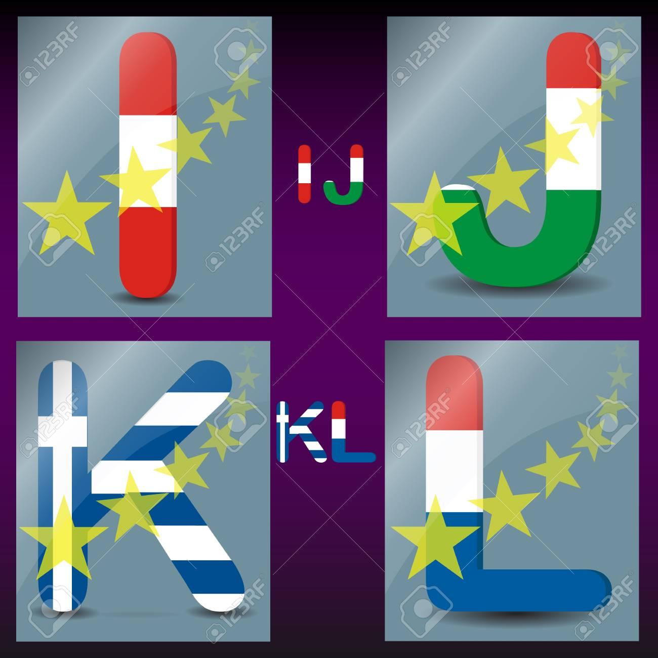 Colored alphabet Stock Vector - 13487547