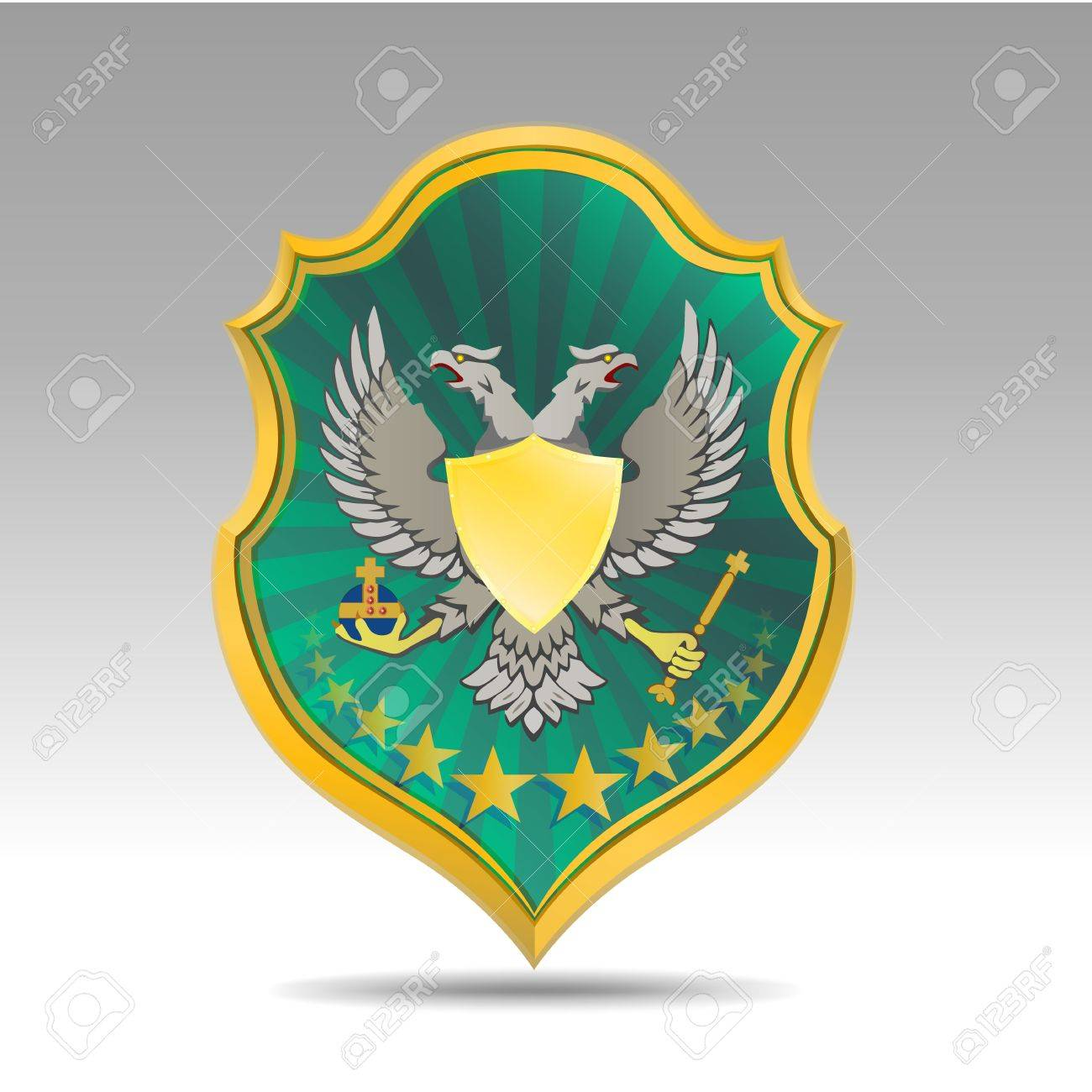 coat of arms with bird Stock Vector - 14300730
