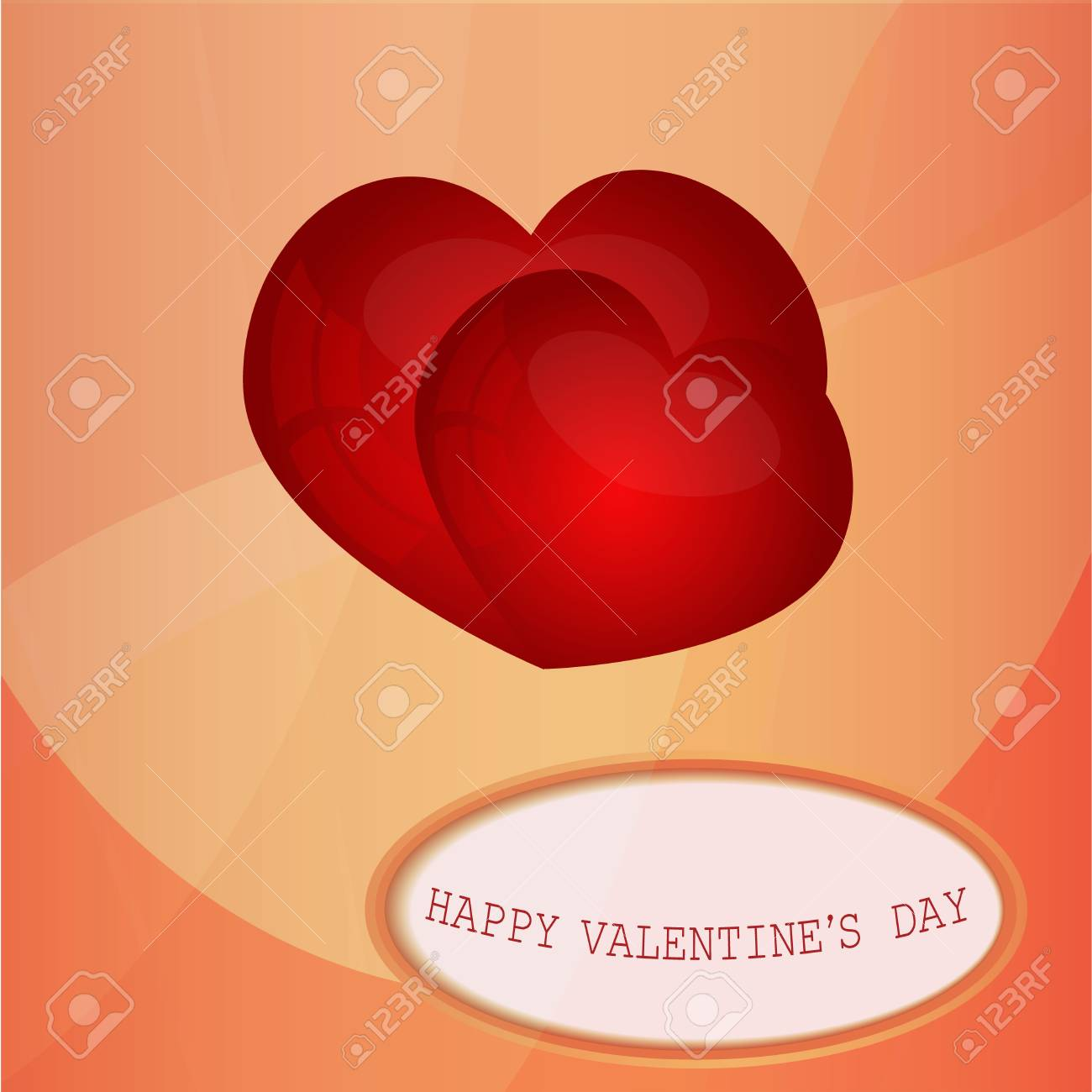 Card with a congratulation Valentine s Day Stock Vector - 16934539