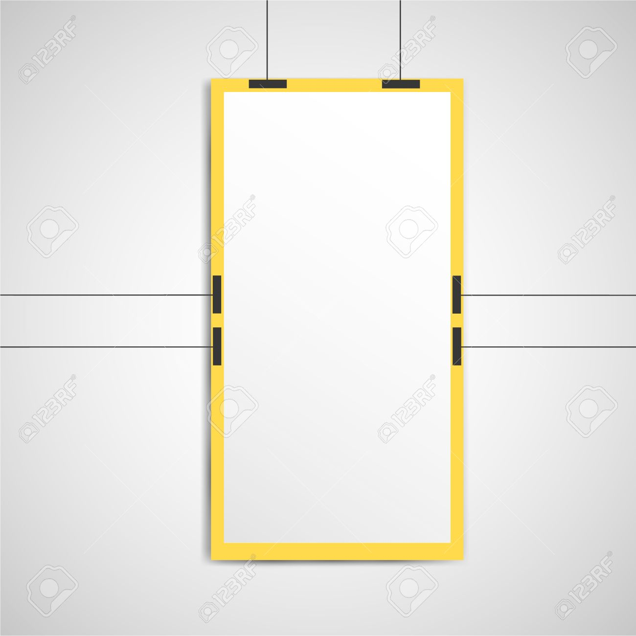 poster mockup template royalty free cliparts vectors and stock