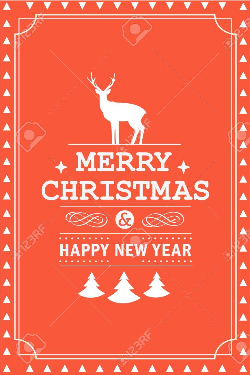 weihnachtsparty einladung retro typografie und gestaltung, Einladungen