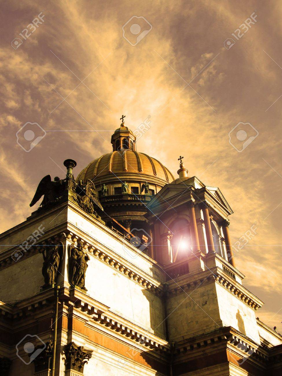 Abstract photo of a cathedral in the city of St.-Petersburg. Stock Photo - 3321967