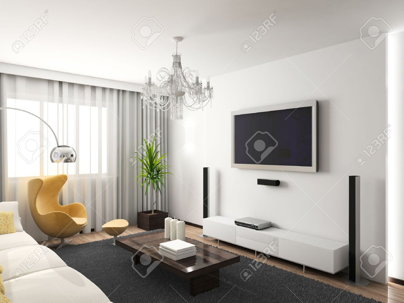 Floral design in circle stock vector image 75615991 - Grey Rug Modern Interior 3d Render Living Room Exclusive Design