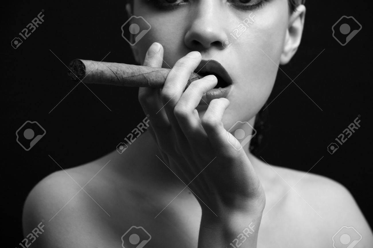 Portrait of elegant smoking woman. Fashion photo Stock Photo - 4342089