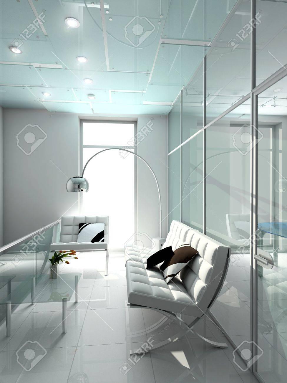 Modern interior. 3D render. Office. Exclusive design. Stock Photo - 4414583
