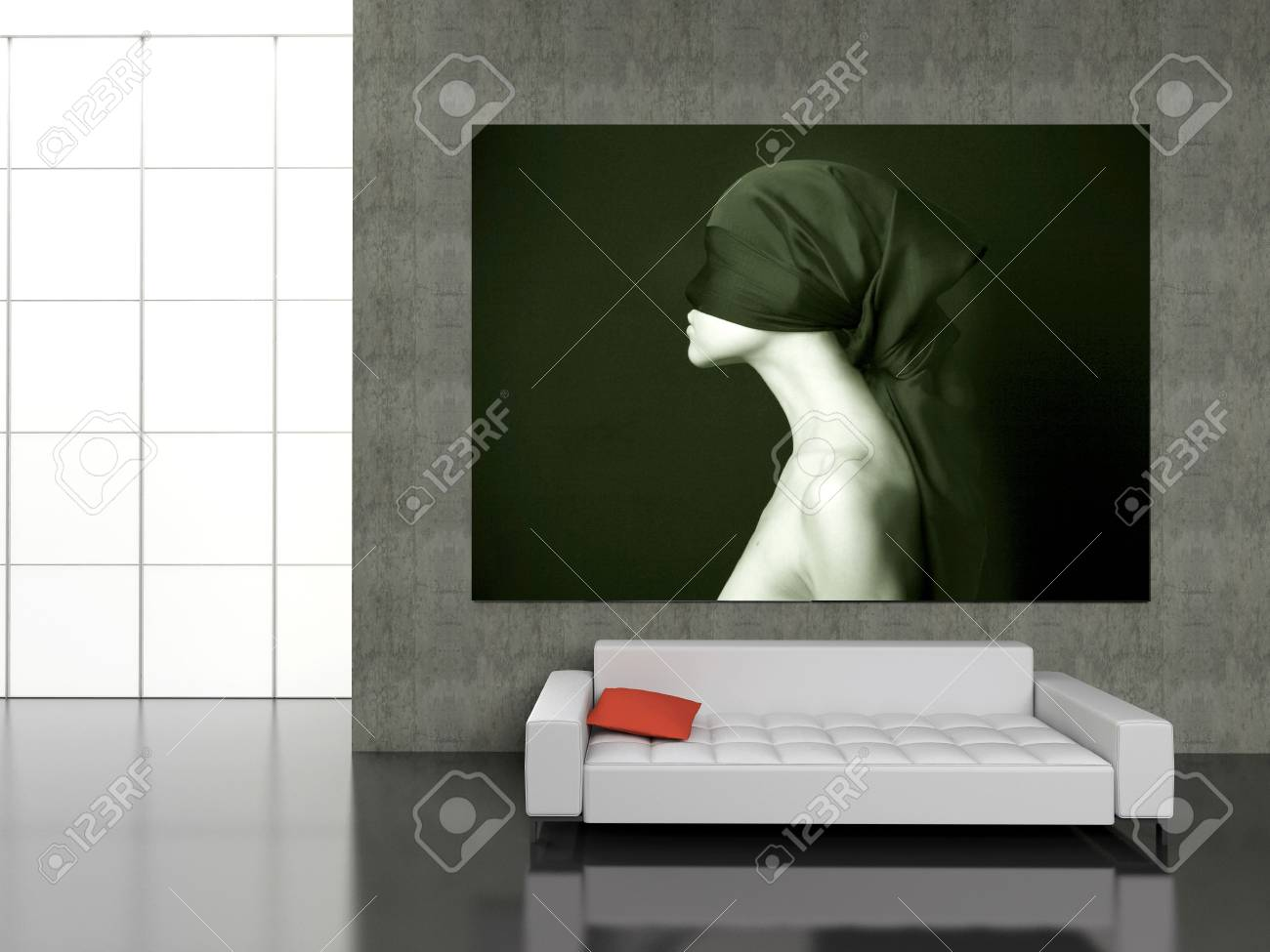 Modern interior with the fashionable picture. Stock Photo - 4414585