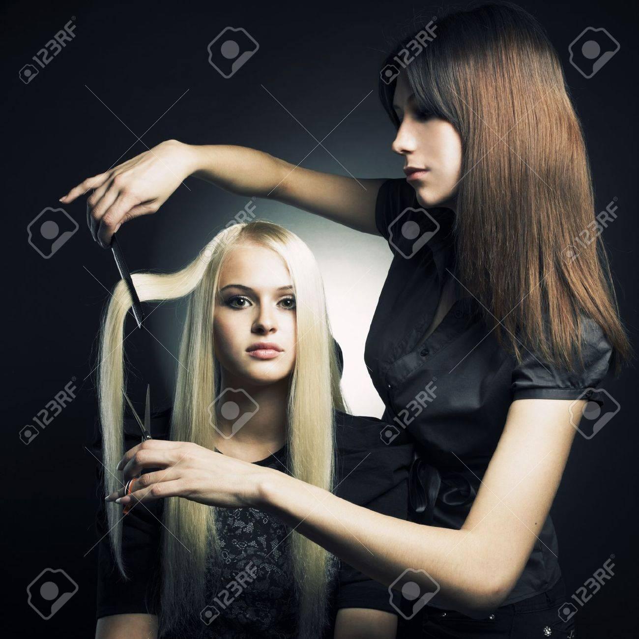 Woman in a beauty salon. Conceptual photo Stock Photo - 9832442