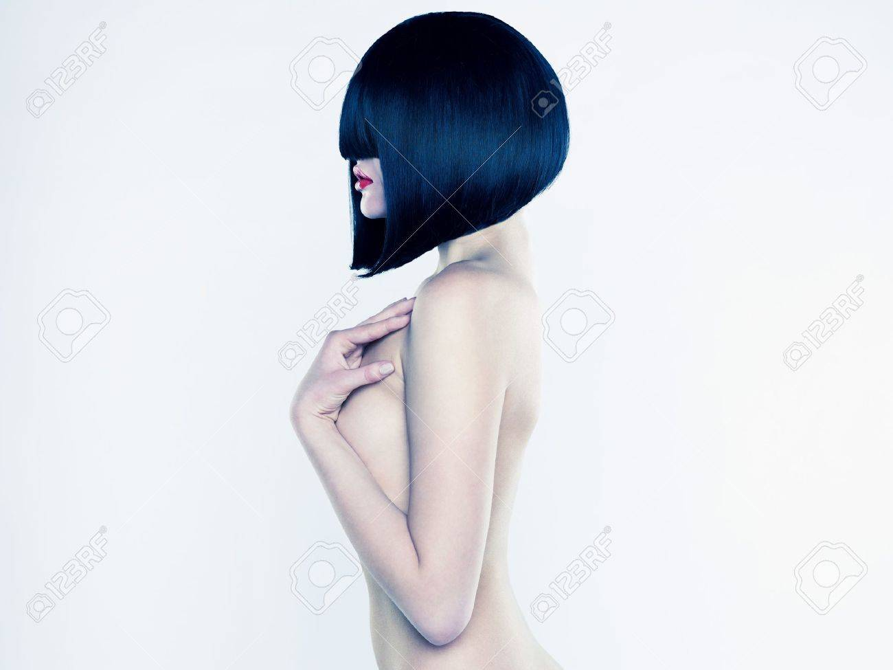Elegant nude woman with short stylish hairstyle Stock Photo - 12933413