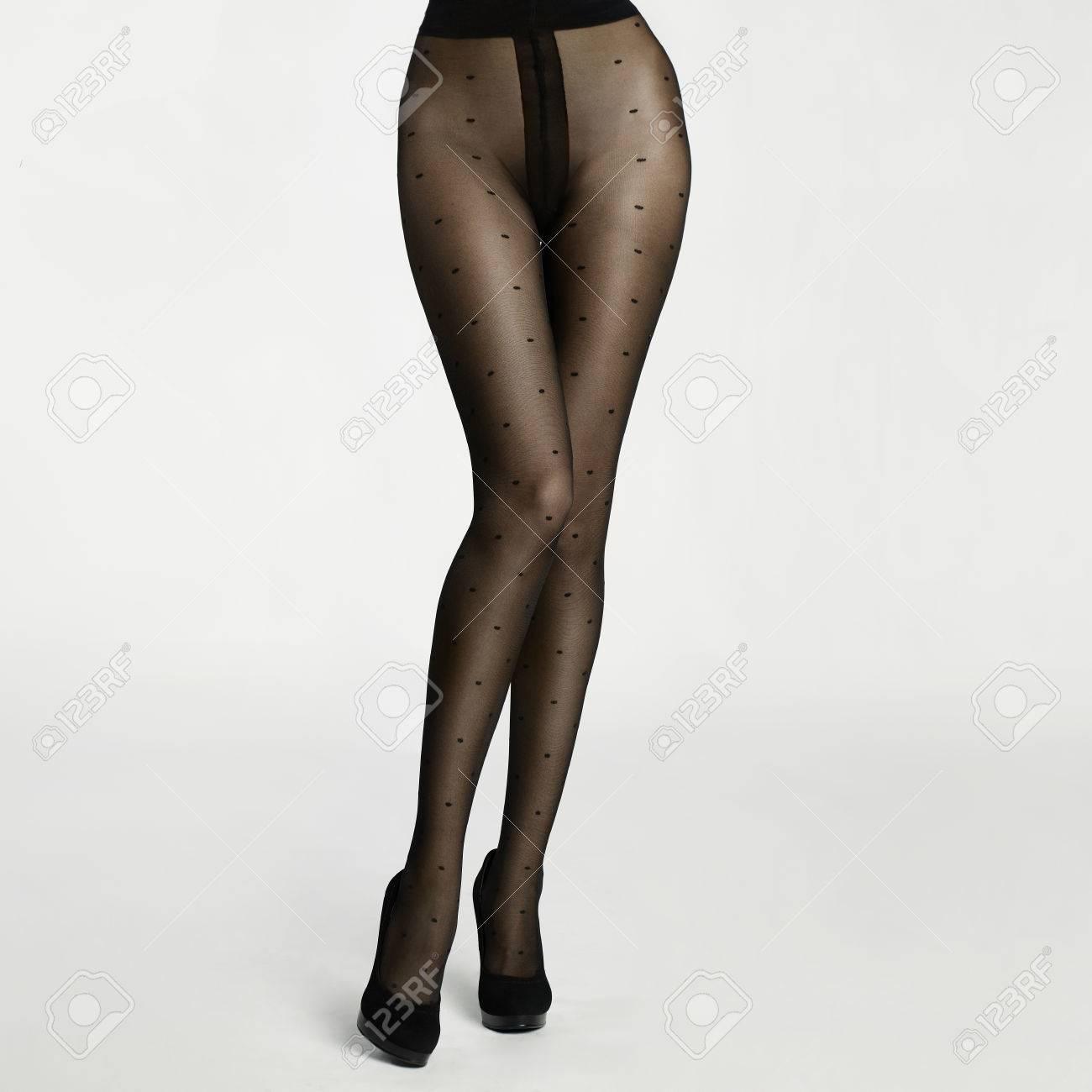 Slim Female Legs In Pantyhose Conceptual Fashion Art Photo Stock Photo 33287239