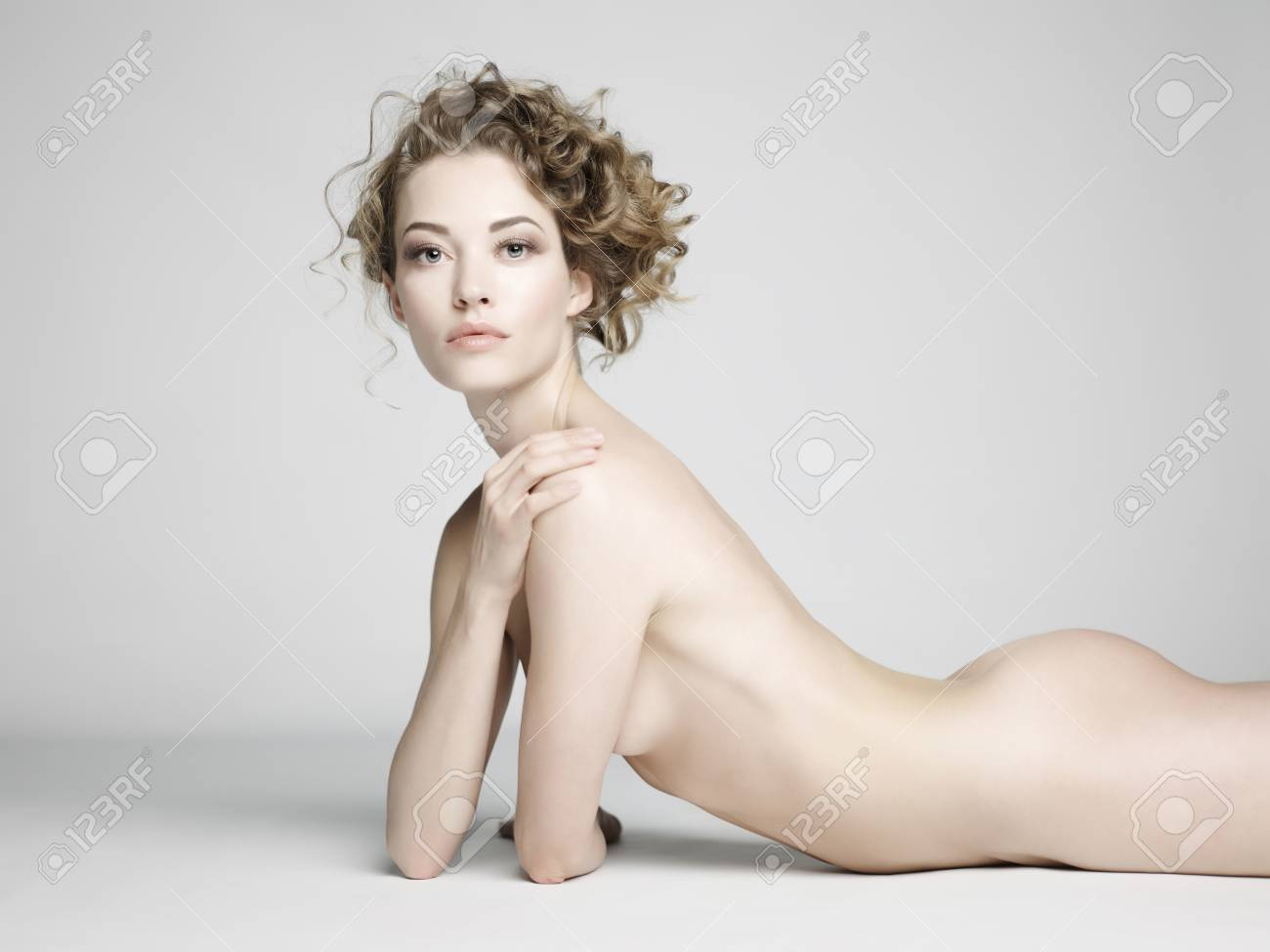 Young nude woman erotic