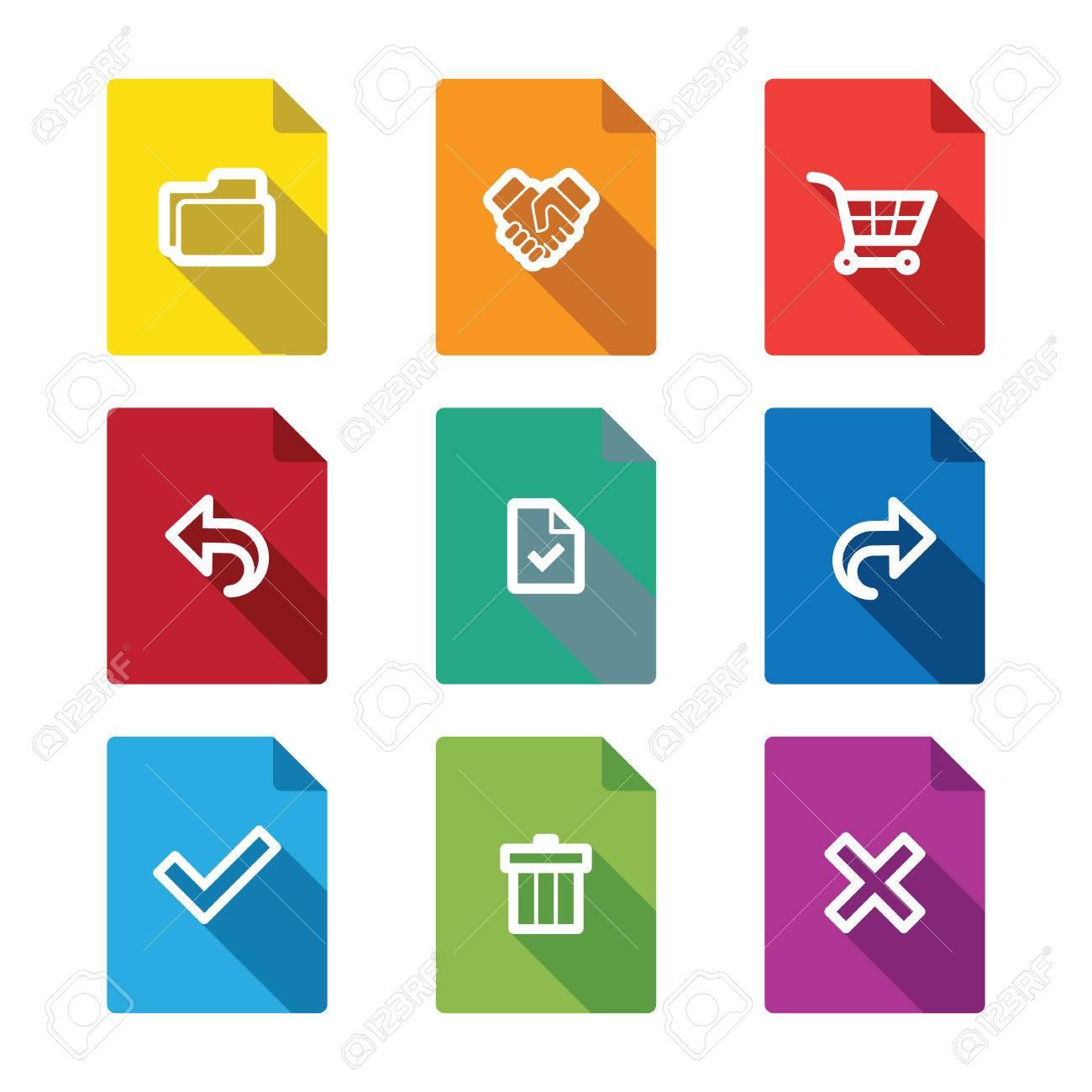 Einfache Online-Shopping-Symbole Für Web Und Mobile Lizenzfrei ...