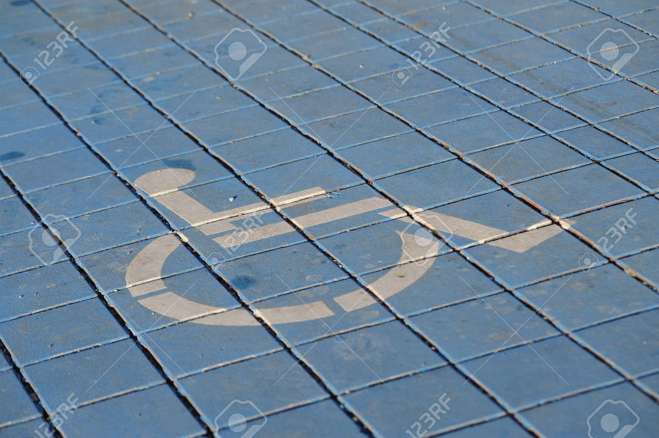 wheelchair symbol, mobility and accessibility for handicapped people in the public - 155883687