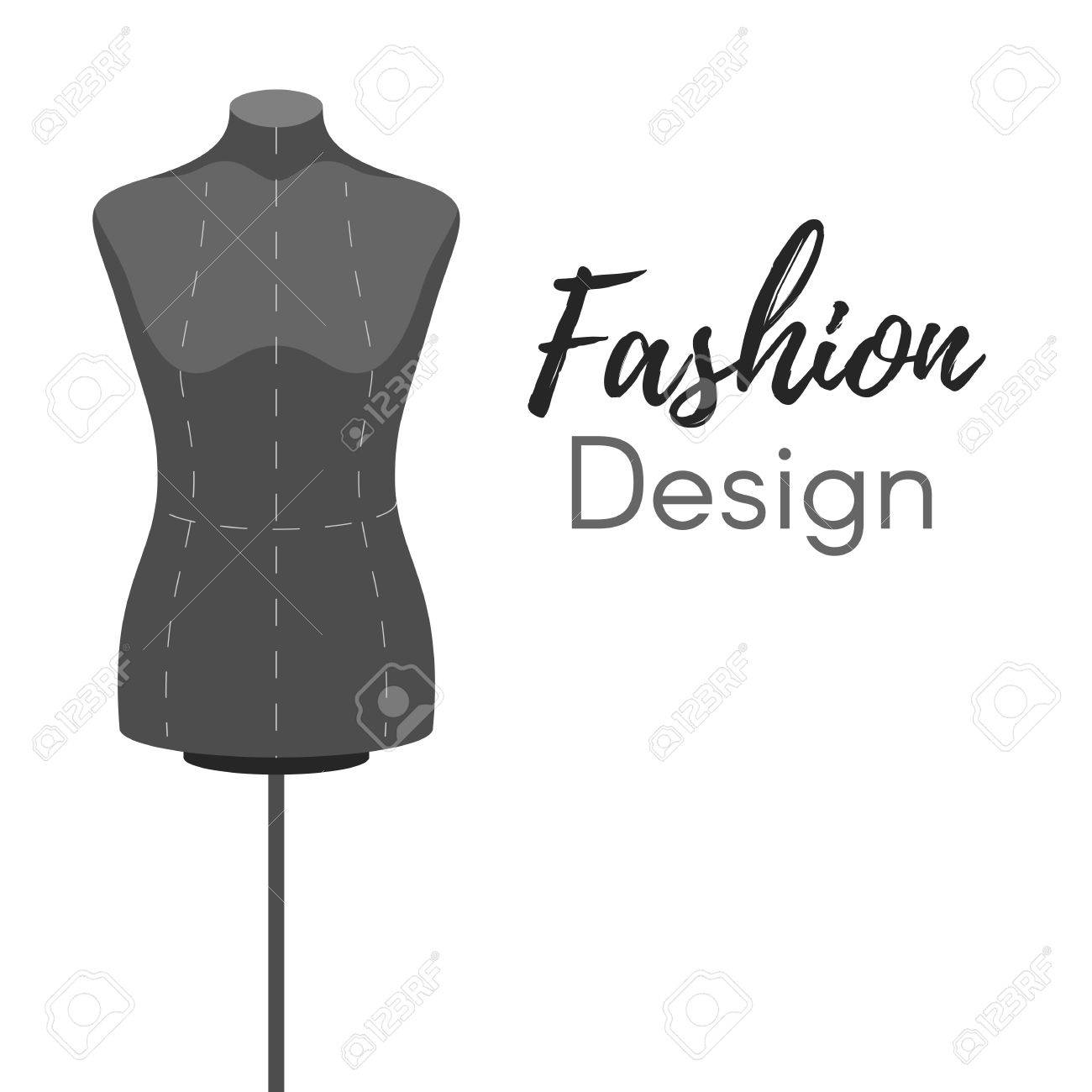 Mannequin Fashion Design Modern Cover On White Background Vector Royalty Free Cliparts Vectors And Stock Illustration Image 59962680