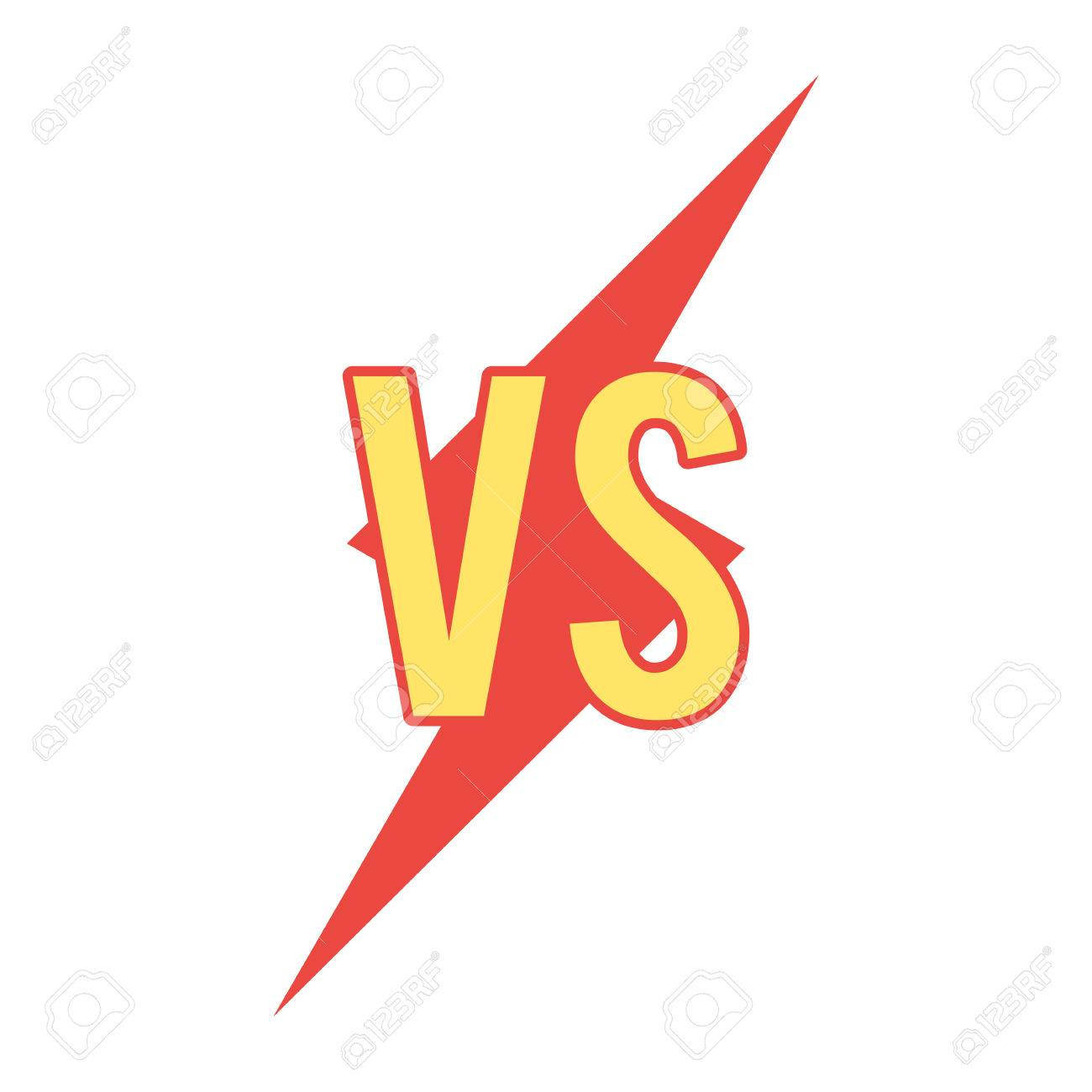 Versus Sign On Flash Shape Stock Photo Picture And Royalty Free