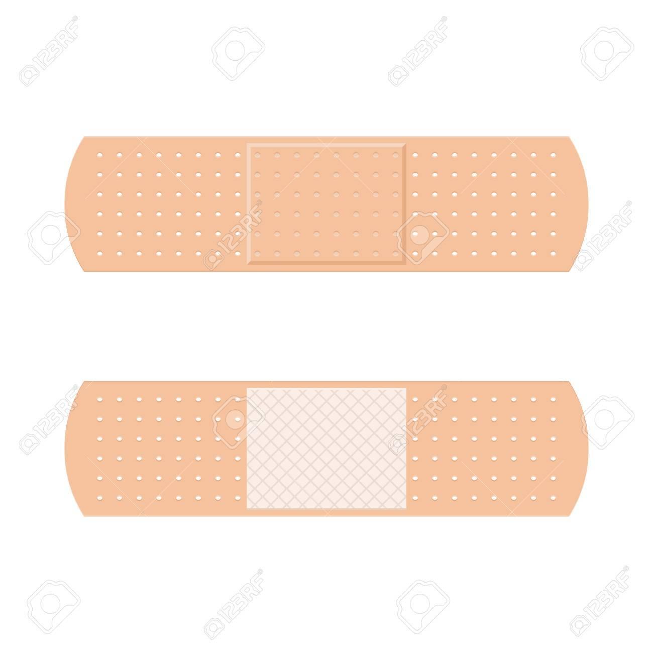 les bandes de plâtre de bande d'aide symbolisent le symbole