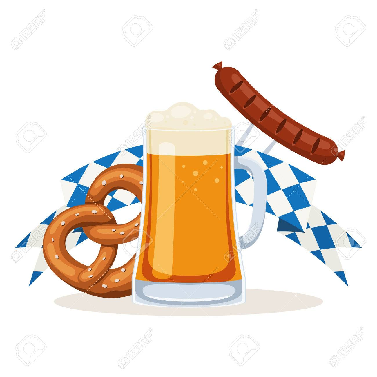 Oktoberfest Beer Festival Poster Beer Mug Bavarian Pretzel Royalty Free Cliparts Vectors And Stock Illustration Image 86414973