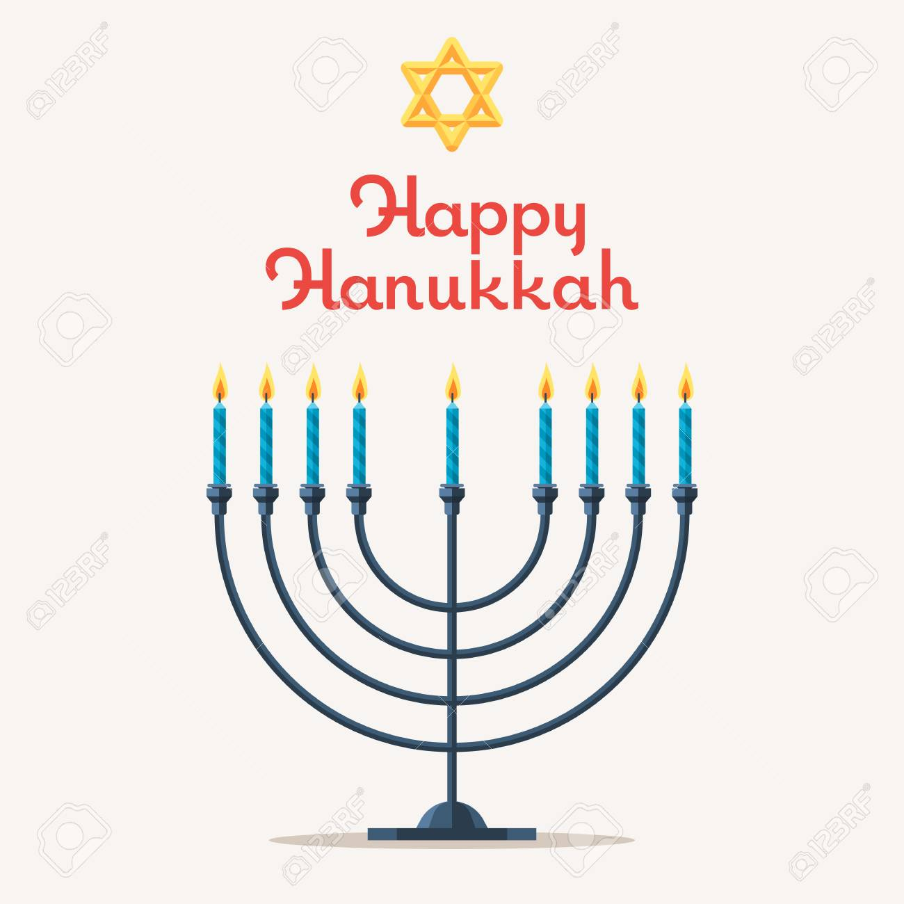 Happy Chanukah. Festival Of Lights, Feast Of Dedication. Jewish ...