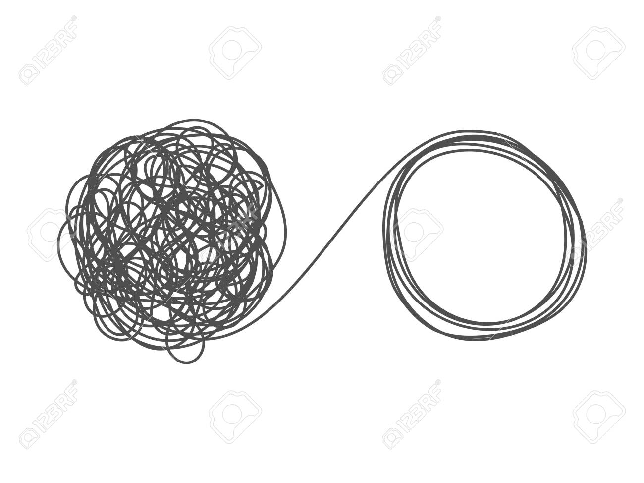 Unraveling Tangled Tangle Metaphor Of Problem Solving Difficult Stock Photo Picture And Royalty Free Image Image 126370657