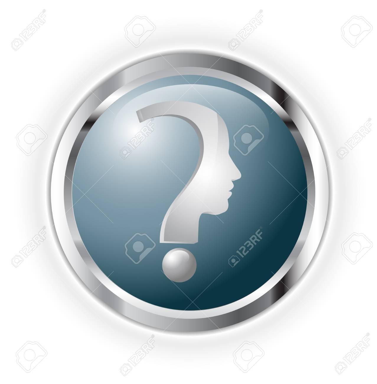 Question head Stock Vector - 17234171
