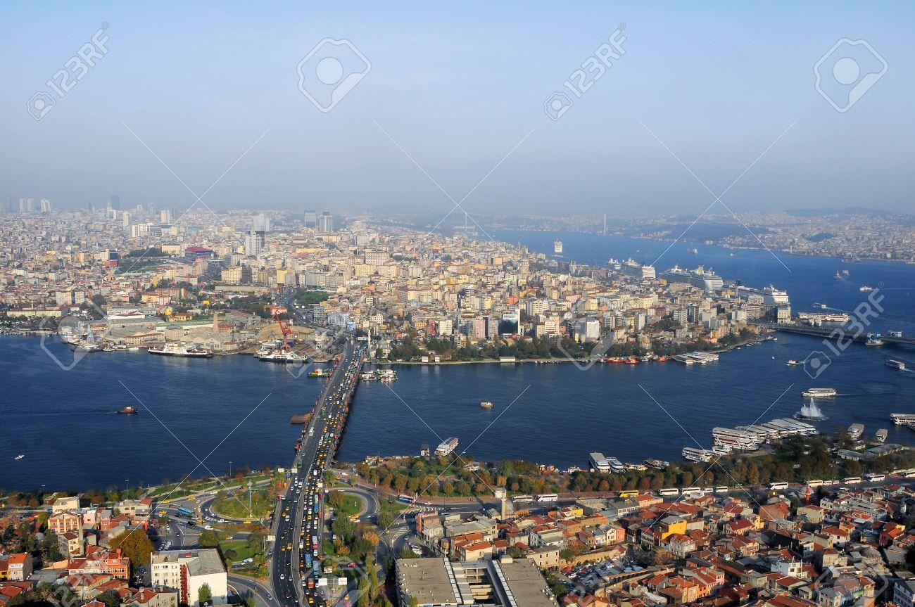 Vue Aérienne De La Corne D\'Or, Istanbul, Turquie Banque D\'Images ...