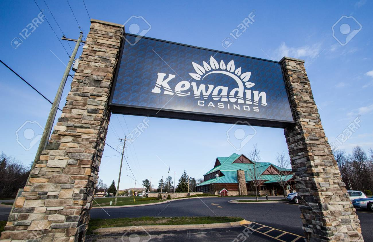 Christmas, Michigan, USA - May 7, 2016: Kewadin Casino Located ...