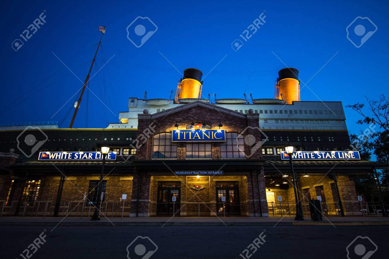 Pigeon Forge, Tennessee, USA - May 15, 2017: The Titanic Museum
