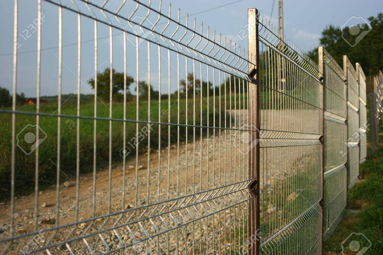 Welded Wire Fence. Stock Photo, Picture And Royalty Free Image ...