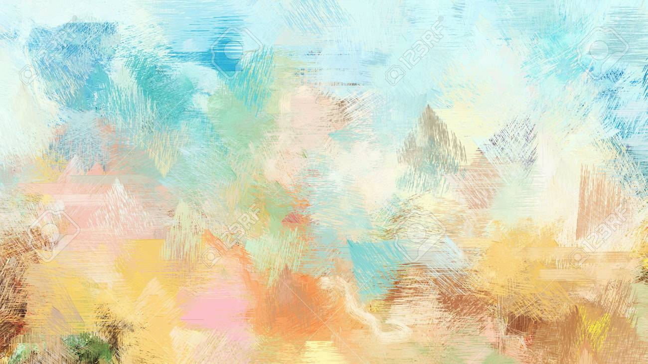 Light Gray Burly Wood And Cadet Blue Color Painted Vintage Background Brush Strokes Illustration Can Be Used For Wallpaper Cards Poster Or