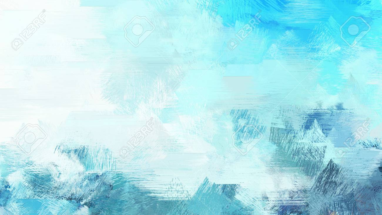 Light Cyan Medium Turquoise And Sky Blue Color Painted Vintage Background Brush Strokes Illustration Can Be Used For Wallpaper Cards Poster Or